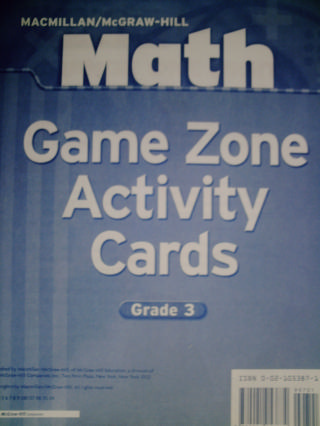 Math 3 Game Zone Activity Cards (PK)