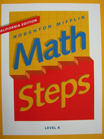 Math Steps K California Edition (CA)(P) by Barry, Boyle,