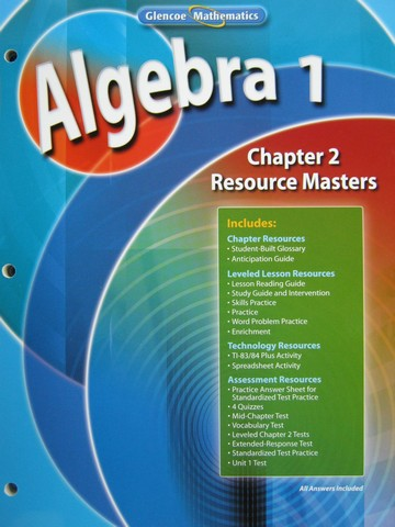 Glencoe Algebra 1 Chapter 2 Resource Masters (P)