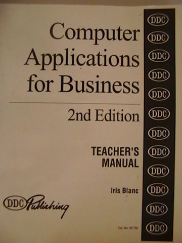 DDC Computer Applications for Business 2nd Edition TM (TE)(P)