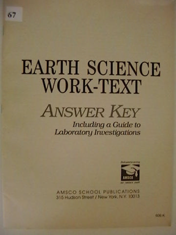 AMSCO Earth Science Work Text Answer Key P EARTHSCIANSWER