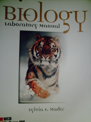 Biology 6th Edition Laboratory Manual (Spiral) by Mader