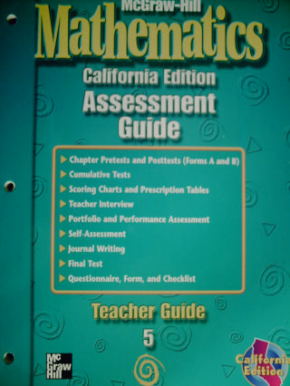 McGraw-Hill Mathematics 5 Assessment Guide (CA)(P)