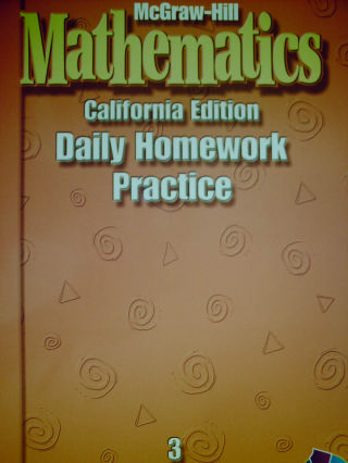 McGraw-Hill Mathematics 3 Daily Homework Practice (CA)(P)
