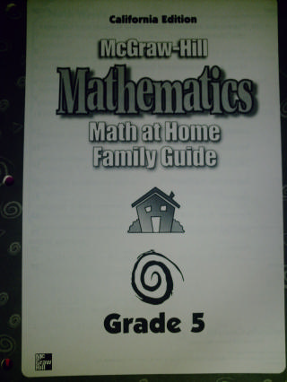 McGraw-Hill Mathematics 5 Math at Home Family Guide (CA)(P)