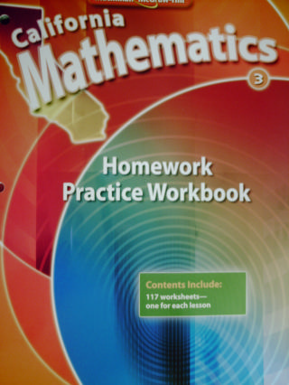 California Mathematics 3 Homework Practice Workbook (CA)(P)