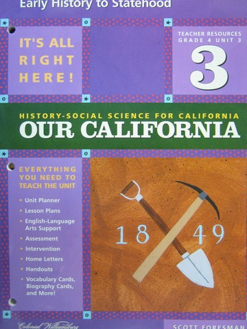 History-Social Science for California 4 Unit 3 TR (CA)(TE)(P)