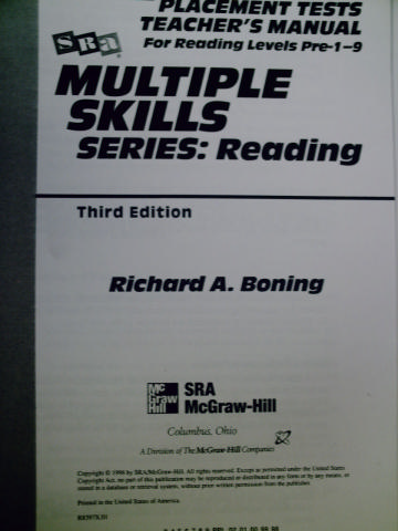 Multiple Skills Series Reading 3rd Edition Placement Tests TM(P)