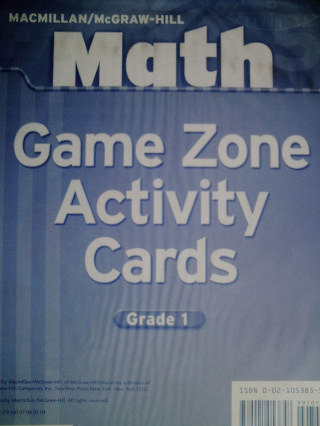 Math 1 Game Zone Activity Cards (PK)