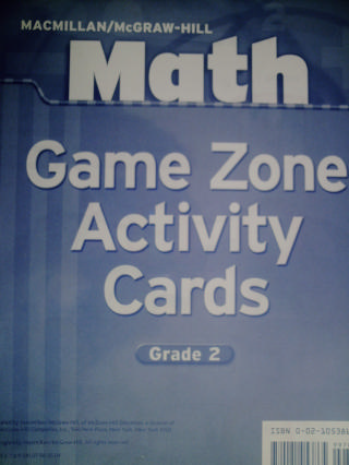 Math 2 Game Zone Activity Cards (PK)