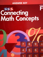 Connecting Math Concepts F Answer Key (P) by Engelmann & Carnine