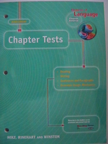 Elements of Language 4th Course Chapter Tests (P)