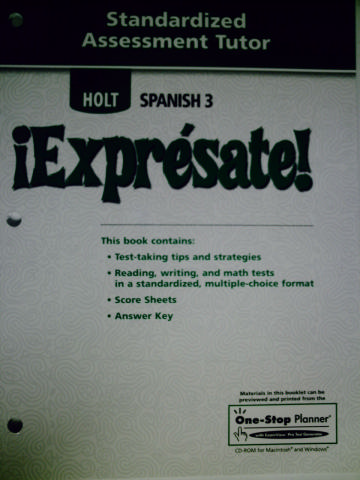 Spanish 3 Expresate Textbook Answers