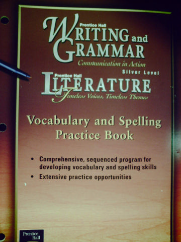 Writing & Grammar Silver Vocabulary & Spelling Practice (P)