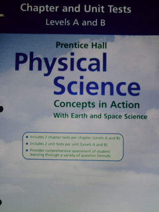 Physical Science Concepts in Action A&B Chapter Tests (P