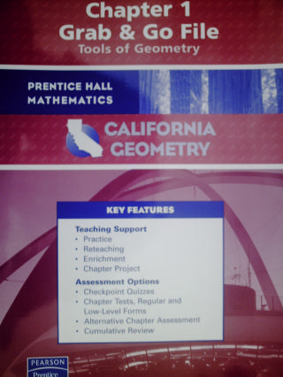 California Geometry Chapter 1 Grab & Go File (CA)(P)