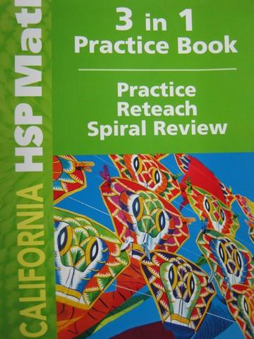 California HSP Math 5 3 In 1 Practice Book CA P