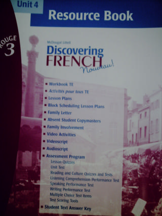 Discovering French Nouveau Rouge 3 Unit 5 Resource Book P