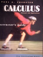 Calculus Concepts & Applications Instructor's Guide (TE)(P)