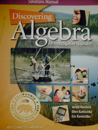 Discovering Algebra 2nd Edition Solutions Manual (CA)(P)