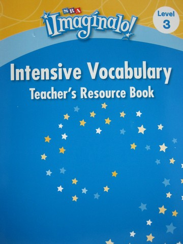 SRA Imaginalo! 3 Intensive Vocabulary TRB (TE)(P)