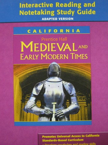 Medieval & Early Modern Times Interactive Reading Adapted (CA)(P - Click Image to Close
