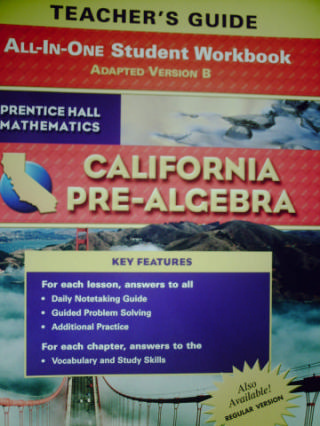 California Pre-Algebra All-in-One Student Workbook B (CA)(TE)(P)