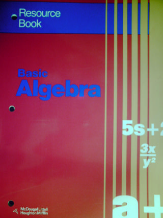 Basic Algebra Resource Book (P) by Brown, Smith, & Dolciani