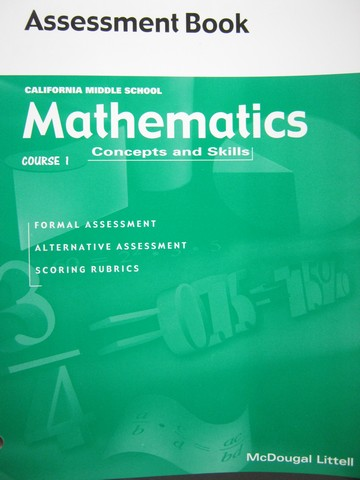 Mathematics Concepts & Skills Course 1 Assessment Book (CA)(P)