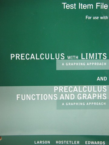 Larson Precalculus with Limits Solutions manual Pdf