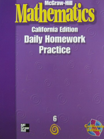 McGraw-Hill Mathematics 6 Daily Homework Practice (CA)(P)