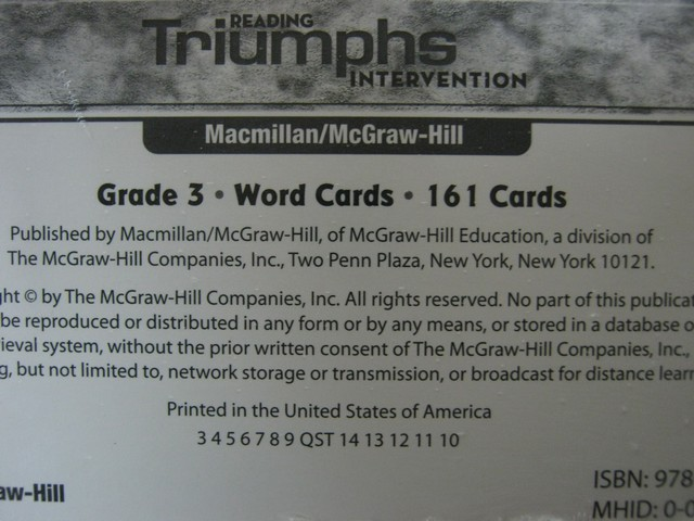 Reading Triumphs 3 Word Cards (Pk)