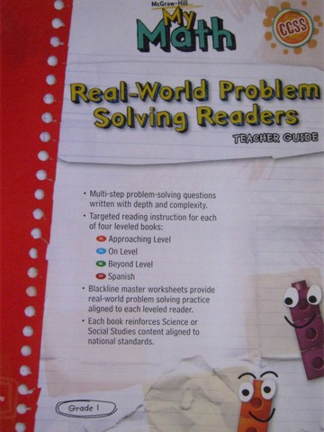 My Math 1 Real-World Problem Solving Readers TG (TE)(P)