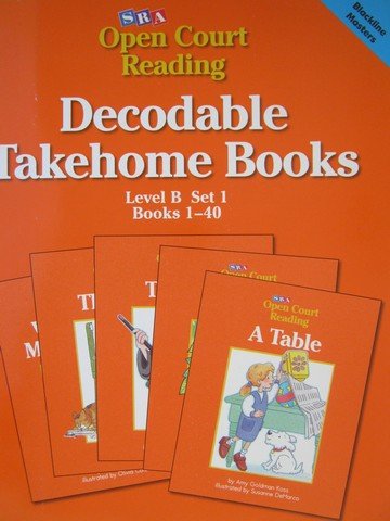 SRA Open Court Reading B-1 Decodable Takehome Books BLM (P)