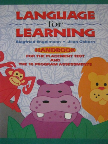 Language for Learning Handbook (P) by Engelmann & Osborn