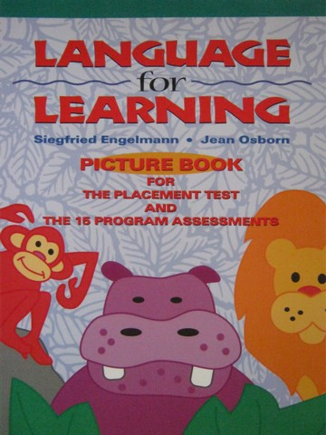 Language for Learning Picture Book (P) by Engelmann & Osborn