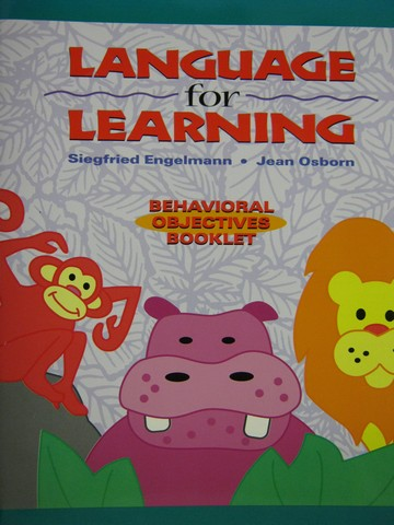 Language for Learning Behavioral Objectives Booklet (P)