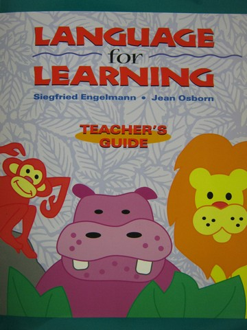 Language for Learning TG (TE)(P) by Engelmann & Osborn