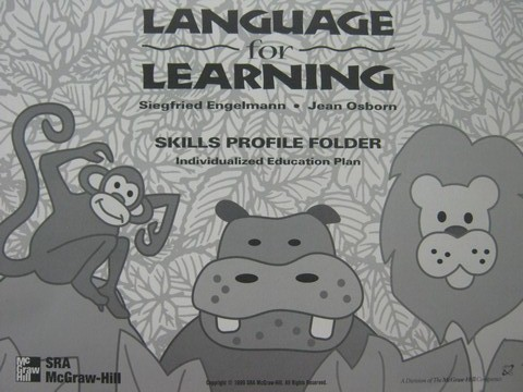 Language for Learning Skills Profile Folder (Pk) by Engelmann,