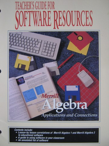 Merrill Algebra Software Resources Teacher's Guide (TE)(P)