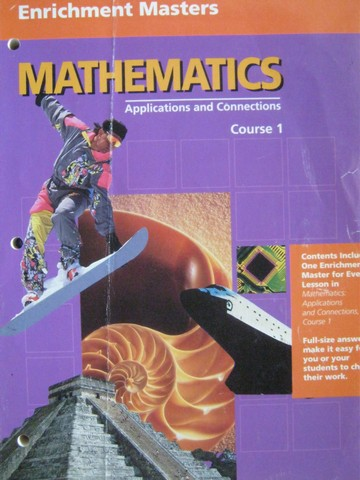 Mathematics Applications & Connections 1 Enrichment Masters (P)