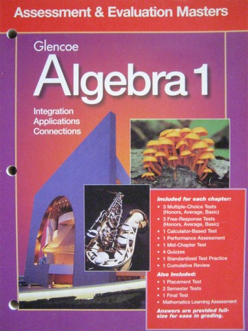 Algebra 1 Assessment & Evaluation Masters (P)