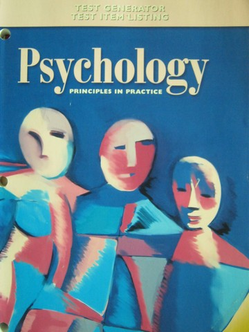 Psychology Principles in Practice Test Generator Test Item (P)