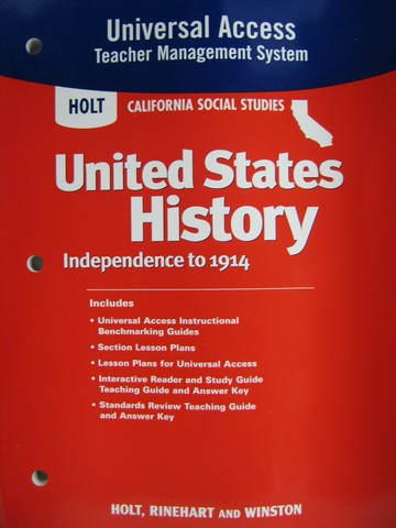 United States History Interactive Reader Study Guide CA