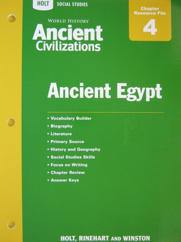 Ancient Civilizations Chapter 4 Resource File (P)