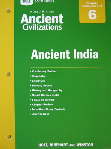 Ancient Civilizations Chapter 6 Resource File (P)