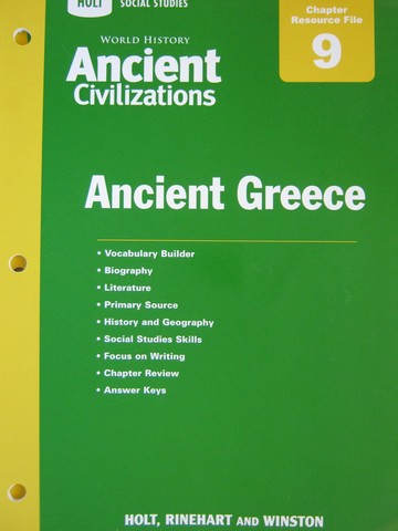 Ancient Civilizations Chapter 9 Resource File (P)