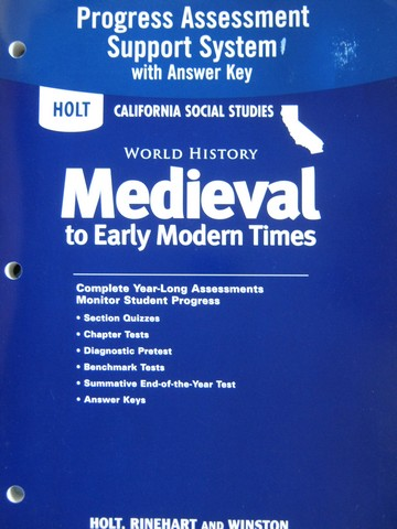 Medieval To Early Modern Times Progress Assessment CA P