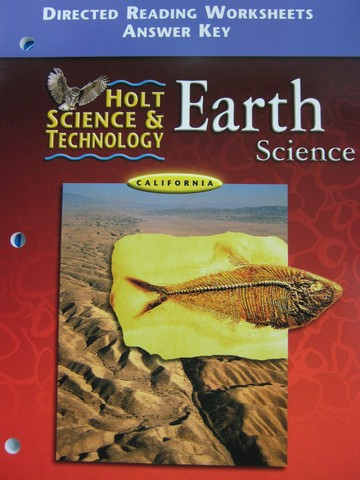 Holt Earth Science Directed Reading Worksheets Answer Key(CA)(P)