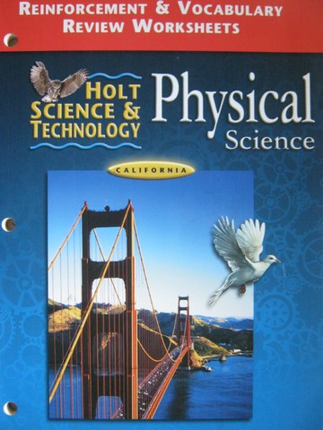 Holt Physical Science Reinforcement & Vocabulary Review (CA)(P)